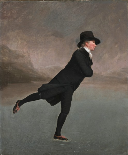 The skating Minister. Reverend Robert Walker (1755 - 1808) skating on Duddingston Loch *oil on canvas *76.2 x 63.5 cm *circa 1795
