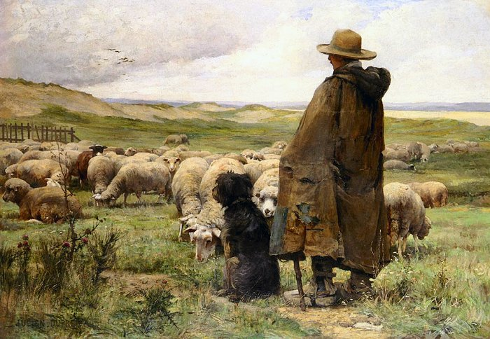 The Shepherd, by Julien Dupre (1851-1910)