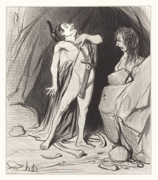 honore-daumier-oedipe-chez-le-sphinx-1842