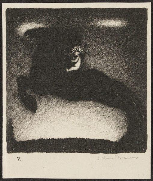 john-bauer-litografi-lille-putte-rider