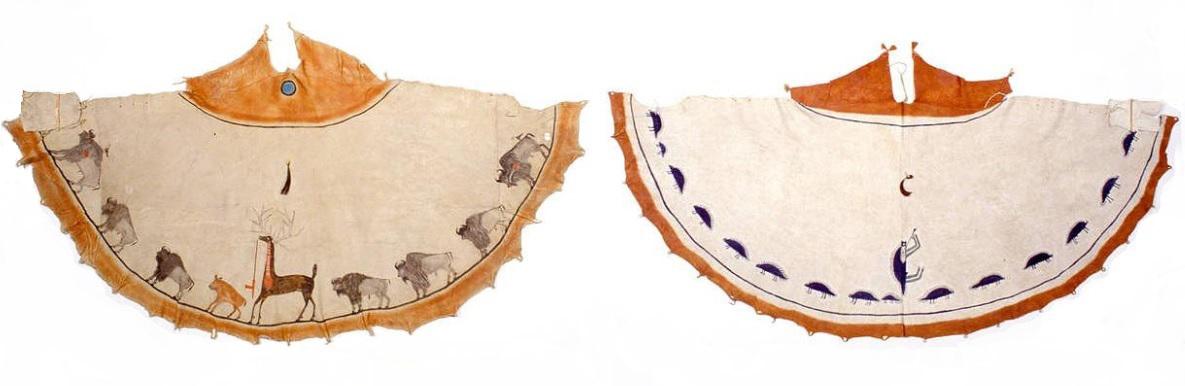 Типи на племето кайова с рисунки.