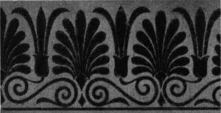 """Мотиви от гръцкото изкуство с транслация и отражение (фиг.23 в """"Симетрия"""")."""