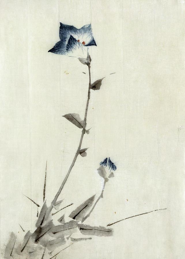 Хокусай, рисунка на цвете, 1840г.