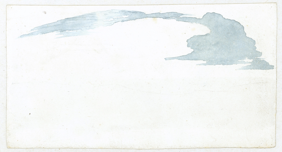 Cloud study by Luke Howard, c1803-1811: Stratus-like brush marks.