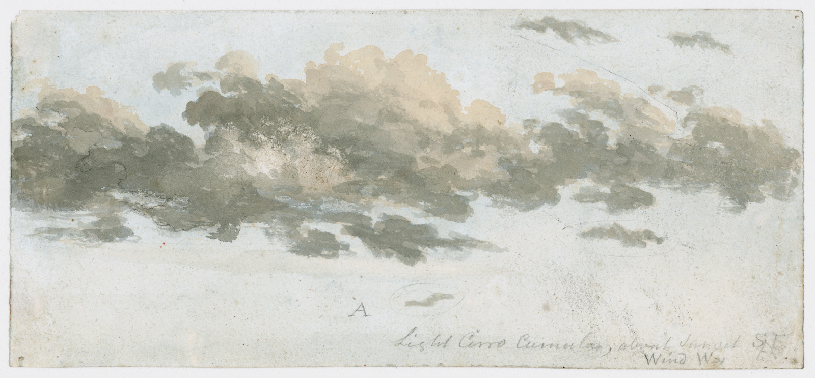 Luke Howard. Cirrocumulus, cloud study, c 1803-1811.